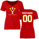 Virginia Military Institute Keydets Women's Personalized Football T-Shirt - Red