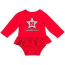 Nebraska Cornhuskers Colosseum Girls Newborn & Infant Day Dreamer Long Sleeve Bodysuit - Scarlet