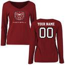 Missouri State University Bears Women's Personalized Football Long Sleeve T-Shirt - Maroon
