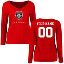 New Mexico Lobos Women's Personalized Football Long Sleeve T-Shirt - Red