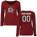 New Mexico State Aggies Women's Personalized Football Long Sleeve T-Shirt - Maroon