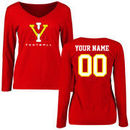 Virginia Military Institute Keydets Women's Personalized Football Long Sleeve T-Shirt - Red