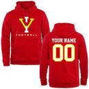 Virginia Military Institute Keydets Personalized Football Pullover Hoodie - Red