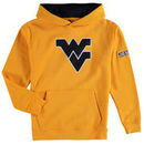West Virginia Mountaineers Youth Big Logo Pullover Hoodie - Yellow