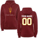 Arizona State Sun Devils Women's Personalized Football Pullover Hoodie - Maroon