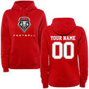 New Mexico Lobos Women's Personalized Football Pullover Hoodie - Red