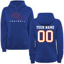 Savannah State Tigers Women's Personalized Football Pullover Hoodie - Royal