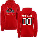 S.E. Missouri State Redhawks Women's Personalized Football Pullover Hoodie - Red