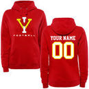 Virginia Military Institute Keydets Women's Personalized Football Pullover Hoodie - Red