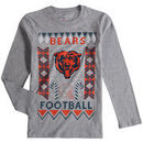 Chicago Bears Youth Blizzard Long Sleeve T-Shirt - Heathered Gray