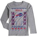 Buffalo Bills Youth Blizzard Long Sleeve T-Shirt - Heathered Gray