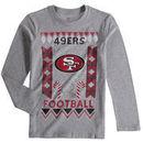 San Francisco 49ers Youth Blizzard Long Sleeve T-Shirt - Heathered Gray
