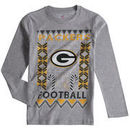 Green Bay Packers Youth Blizzard Long Sleeve T-Shirt - Heathered Gray