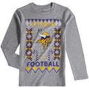 Minnesota Vikings Youth Blizzard Long Sleeve T-Shirt - Heathered Gray