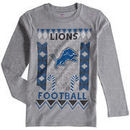 Detroit Lions Youth Blizzard Long Sleeve T-Shirt - Heathered Gray