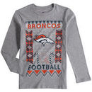 Denver Broncos Youth Blizzard Long Sleeve T-Shirt - Heathered Gray
