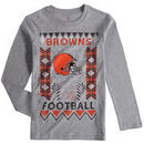 Cleveland Browns Youth Blizzard Long Sleeve T-Shirt - Heathered Gray