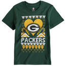 Green Bay Packers Girl's Youth Candy Cane Love T-Shirt - Green