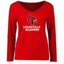 Louisville Cardinals Women's Louisville Alumni Signature Mark Long Sleeve T-Shirt - Red