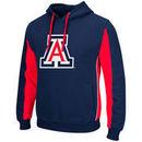 Arizona Wildcats Colosseum Thriller II Pullover Hoodie - Navy/Red