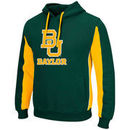 Baylor Bears Colosseum Thriller II Pullover Hoodie - Green/Gold