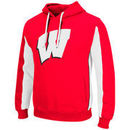 Wisconsin Badgers Colosseum Thriller II Pullover Hoodie - Red/White
