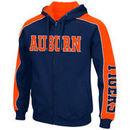 Auburn Tigers Colosseum Thriller II Full-Zip Hoodie - Navy/Orange