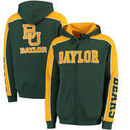 Baylor Bears Colosseum Thriller II Full-Zip Hoodie - Green/Gold