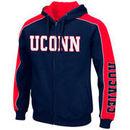 UConn Huskies Colosseum Thriller II Full-Zip Hoodie - Navy/Red