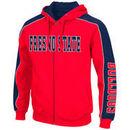 Fresno State Bulldogs Colosseum Thriller II Full-Zip Hoodie - Red/Navy