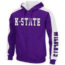 Kansas State Wildcats Colosseum Thriller II Full-Zip Hoodie - Purple/White