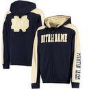 Notre Dame Fighting Irish Colosseum Thriller II Full-Zip Hoodie - Navy/Gold