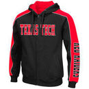 Texas Tech Red Raiders Colosseum Thriller II Full-Zip Hoodie - Black/Red