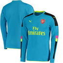 Arsenal Puma 2016/17 Away Goalkeeper Long Sleeve Shirt With English Premier League Sponsor - Blue