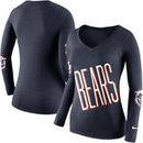 Chicago Bears Nike Women's Champ Drive 2 Long Sleeve T-Shirt - Navy