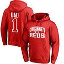 Cincinnati Reds #1 Dad Pullover Hoodie - Red