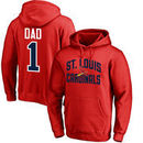 St. Louis Cardinals #1 Dad Pullover Hoodie - Red