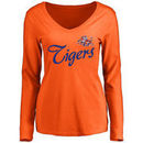 Savannah State Tigers Women's Dora Long Sleeve T-Shirt - Orange