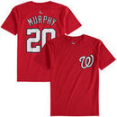 Daniel Murphy Washington Nationals Majestic Youth Player Name and Number T-Shirt - Red