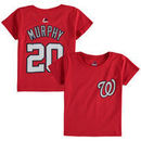 Daniel Murphy Washington Nationals Majestic Toddler Player Name and Number T-Shirt - Red