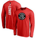 Kyle Lowry Toronto Raptors Backer Long Sleeve T-Shirt - Red
