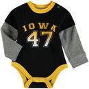 Iowa Hawkeyes Colosseum Newborn & Infant Fly By Layered Long Sleeve Bodysuit - Black
