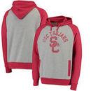 USC Trojans Slater Pullover Hoodie - Gray/Cardinal