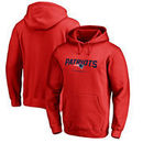 New England Patriots NFL Pro Line by Fanatics Branded Team Lockup Pullover Hoodie - Red