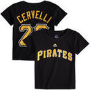 Francisco Cervelli Pittsburgh Pirates Majestic Toddler Player Name and Number T-Shirt - Black
