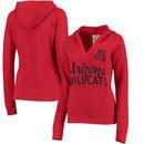 Arizona Wildcats Pressbox Women's Laurie V-Neck Hoodie - Red