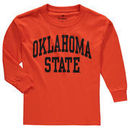 Oklahoma State Cowboys Fanatics Branded Youth Secondary Logo Basic Arch Long Sleeve T-Shirt - Orange
