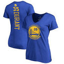 Kevin Durant Golden State Warriors Women's Backer Classic Fit Name & Number T-Shirt - Royal