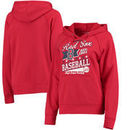 Boston Red Sox 5th & Ocean by New Era Women's Raw Edges & Pouch Raglan Pullover Hoodie - Red