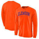 Clemson Tigers Basic Arch Long Sleeve T-Shirt - Orange